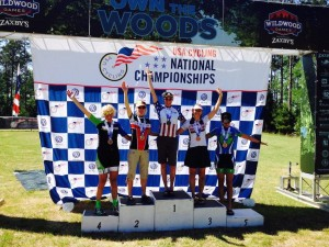 Sue Lynch on the Top Step at Nationals